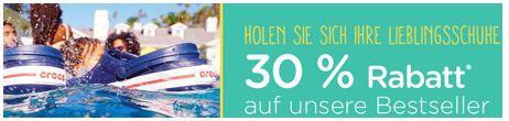 Crocs mit 30Prozent Rabatt Crocs   Summer Sale mit bis zu 70% Rabatt + 30% auf Bestseller