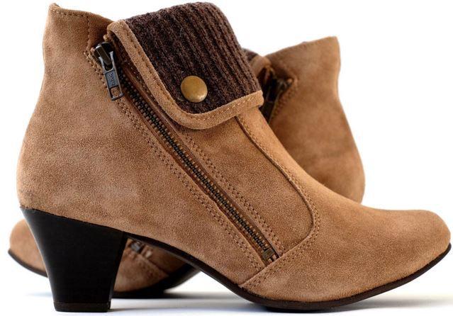 Damen Wildleder Stiefel Bevaform Damen Stiefeletten aus echtem Wildleder für nur 11,99€