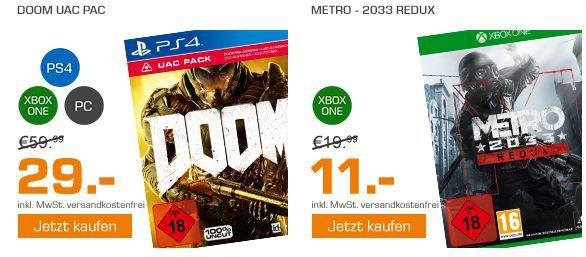 Doom Angebot DOOM UAC Pack   Konsolen und PC für 29€ und mehr günstige Games im Saturn Weekend