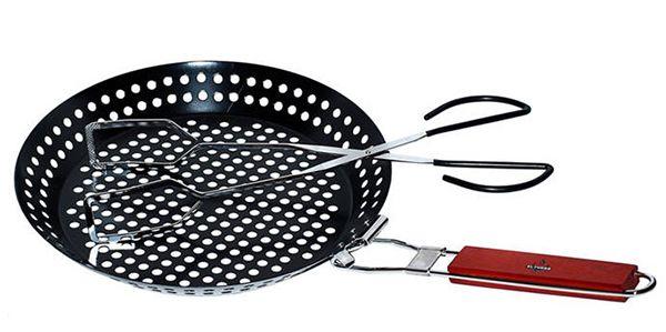 El Fuego Grillpfanne 30cm + Zange 38cm für 9,99€ (statt 15€)