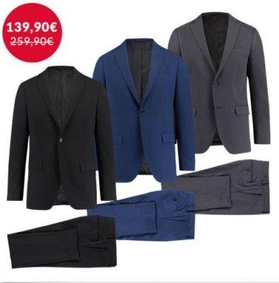 engelhorn Selection   Herren Anzug in Schwarz, Grau oder Blau für nur 139,90€