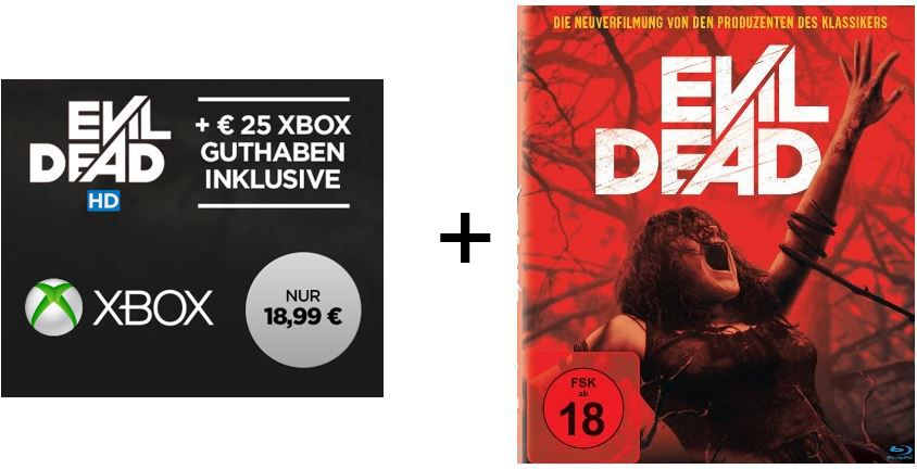 Evil Dead Gutschein 25€ Xbox Live Guthaben + Evil Dead im HD Stream für nur 18,99€