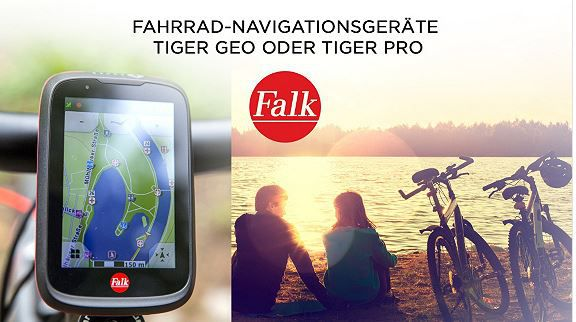 FALK TIGER GEO   Outdoor Navi mit Fahrradhalterung für 105,50€ oder Pro für 205,90€