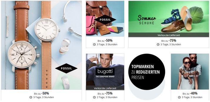 Fossil Angebote Zalando Lounge: Mode bis zu 80% Rabatt z.B. Fossil Uhren und Accessoires