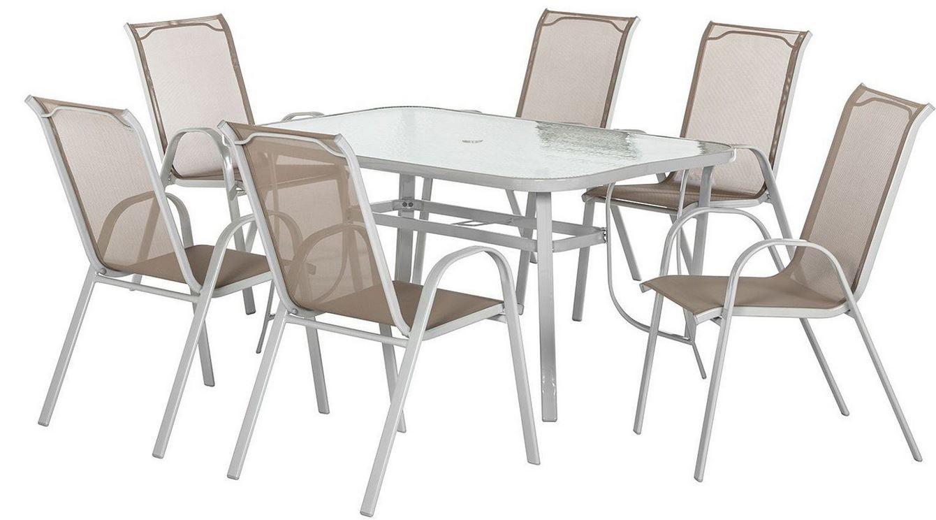 Eden Company 7teilige Garten Sitzgruppe mit Tisch und Stühlen für 169€
