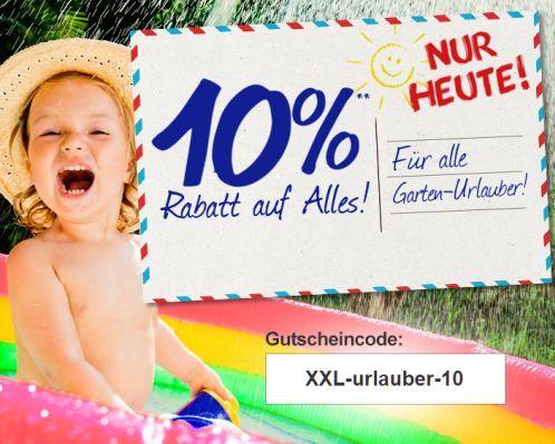 Gartenxxl Nur heute: 10% Rabatt auf alles bei GartenXXL   z.B. 4x Duracell Solar Gartenlampen für nur 31,46€