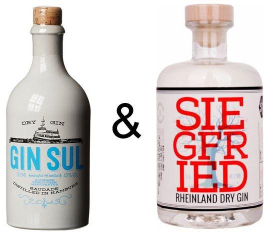Abgelaufen! Gin Team   Siegfried Rheinland Dry Gin & Gin Sul je 0,5l für 51,90€ (statt 66€)