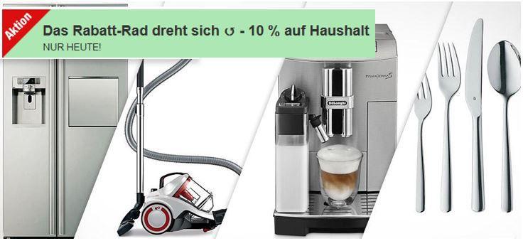 Haushaltsrabatt Plus.de heute mit 10% Rabatt auf Haushalt