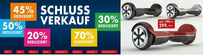 Hooverboard Karstadt Late Night mit z.B. Schlussverkauf mit 70% Rabatt + VSK frei