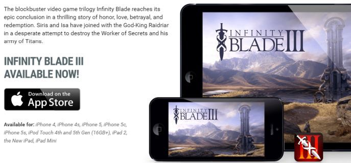 Intinity Blade Banner Infinity Blade 1 3 (iOS) gratis