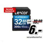 Lexar Platinum II 300x – 32 GB SD für 6€ beim Media Markt Foto Deal