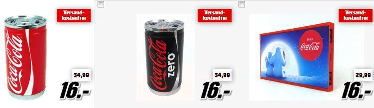 Lenco Coca Cola Powerbank LENCO Bluetooth Lautsprecher ab 25€ in der Media Markt Lenco Tiefpreisspätschicht