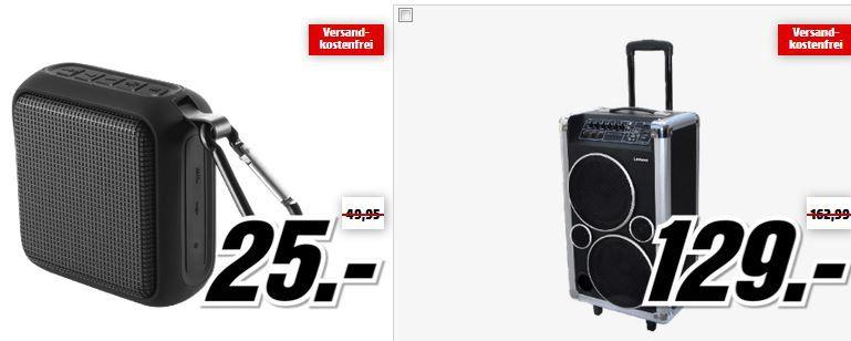 Lenco PA LENCO Bluetooth Lautsprecher ab 25€ in der Media Markt Lenco Tiefpreisspätschicht