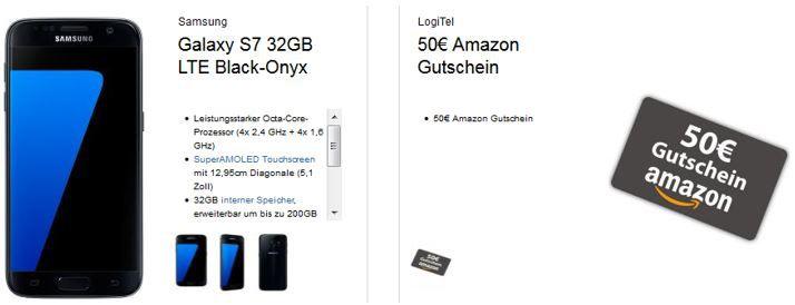 Logitel Super Angebot Samsung Galaxy S7 + Gear VR Brille + 50€ Amazon Gutschein + Vodafone VollFlat + 2GB LTE für 39,99€ mtl.