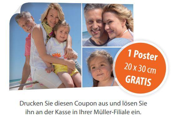 Müller Poster gratis Poster mit eigenem Motiv (20x30cm) kostenlos