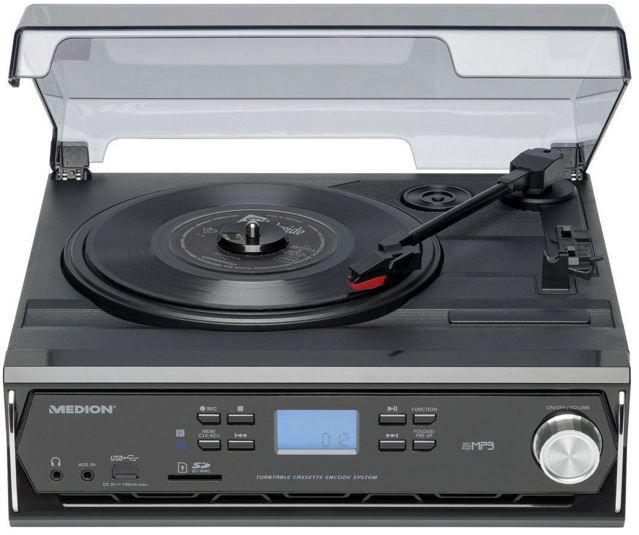 MEDION LIFE E67027 MD 84976 MEDION LIFE E67027   USB Platten  u. Kassettenspieler mit SD Kartenleser für 44,44€