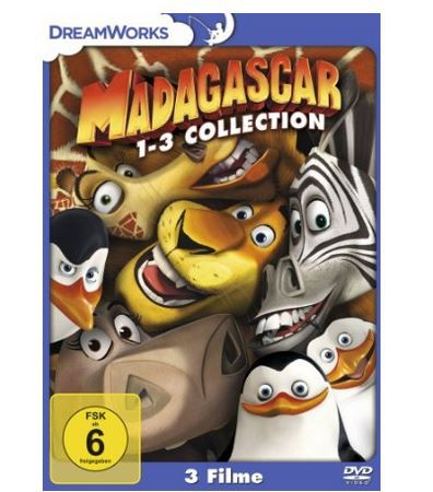Madagascar Teil 1 3 DVDBox ab nur 9,97€