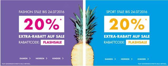 Marken Fashion Rabatt Sale Engelhorn FLASH SALE mit 20% Extra Rabatt zusätzlich auf reduzierte Artikel   Hot!