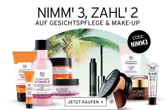 Nimm3 Zahl 2 The Body Shop: Kauf 3 und Zahl nur 2