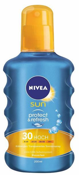 Nivea Sun Protect1 Nivea Sun Protect & Refresh   kühlendes Transparentes Sonnenspray LSF 30 für 6,39€ (Prime)