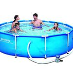 Bestway Frame Pool Steel Pro Set – 305 x 76 cm mit Pumpe für 82,90€