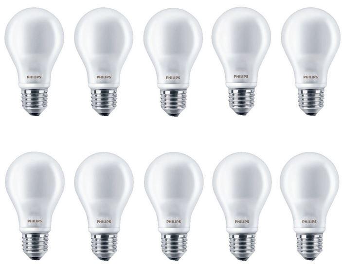 PHILIPS 47218700   10er Pack LED Leuchtmittel E27 7Watt für 34,95€