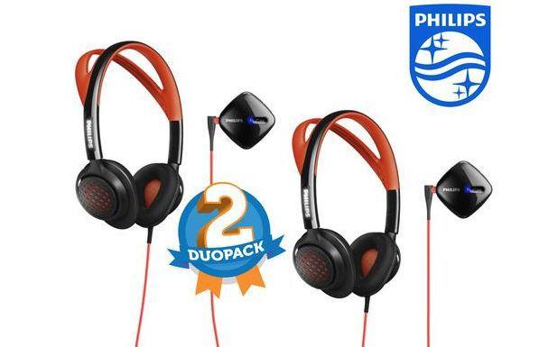 2x Philips ActionFit Sport Kopfhörer SHQ6300 für nur 45,90€ (statt 74€)