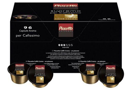Piacetto supremo 96er Pack Piacetto supremo Cafissimo Caffè Crema Kapseln ab 22,90€ (statt 30€)