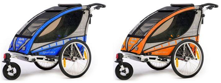 Qeridoo Sportrex1   top Kinderfahrradanhänger für 268,15€ oder Sportrex2 für 269,10€