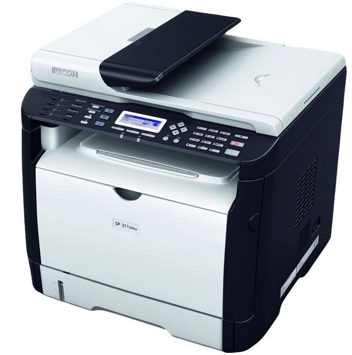 RICOH SP 311SFNw Laserdrucker RICOH SP 311SFNw   A4 mono Laser Drucker / Scanner / Kopierer statt 225€ für 129€
