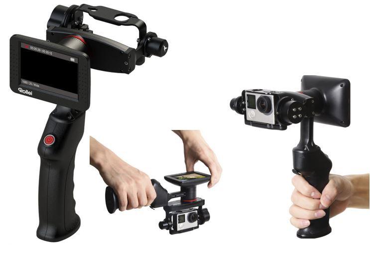 Rollei eGimbal G5 ROLLEI eGimbal G5   elektronischer Stabilisator mit Display für GoPro Hero 3 4 für 99€