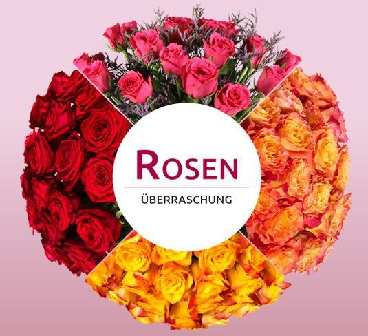 Rosenüberraschung Miflora Überraschungs Rosen Blumenstrauß für 14,90€