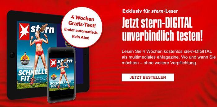 STERN Digital 4 Wochen STERN Digital gratis   selbstkündigend!