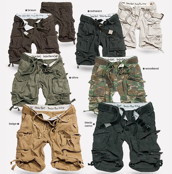 SURPLUS DIVISION CARGO Herren Shorts SURPLUS DIVISION CARGO Herren Shorts bis 7XL für je 29,90€
