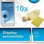 Schnell: 10x Displayschutzfolie für Samsung Galaxy S3 für nur 0,10€!