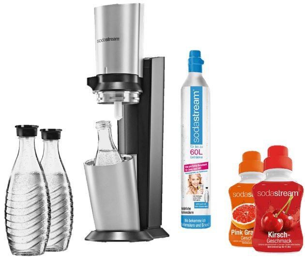Sodastream Chrystal Sodastream Crystal Megapack mit 60L Zylinder + 3 Karaffen + 2 Sirup für 99€