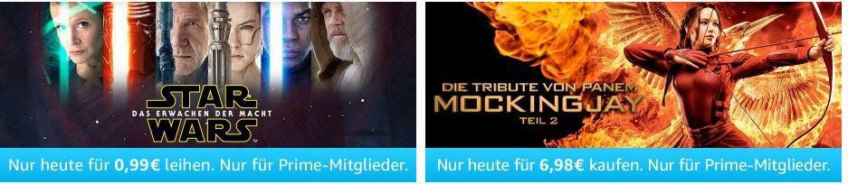 Star Wars das erwachen Blockbuster und mehr Amazon Prime Filme heute ab nur 0,99€