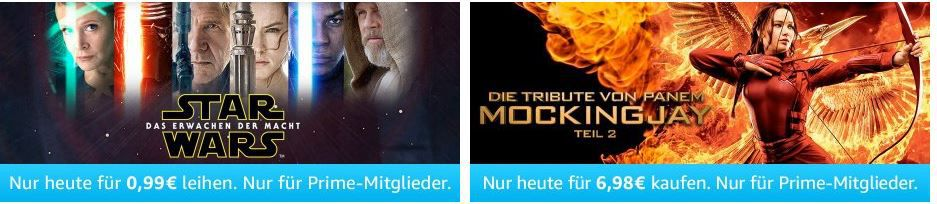 Blockbuster und mehr Amazon Prime Filme heute ab nur 0,99€