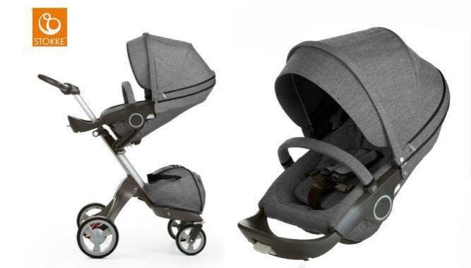 STOKKE Xplory Kinderwagen (Black Melange) für 636,99€ (statt 854€)