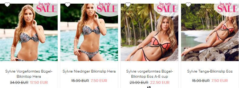 Sylvie und andere Bademoden günstig bei Hunkemöller mit bis zu 70% Rabatt