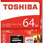 Toshiba 64GB (microSD, Class 10) für nur 14,99€ – 128GB für 29€