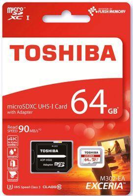 Toshiba microSD Toshiba 64GB (microSD, Class 10) für nur 14,99€   128GB für 29€
