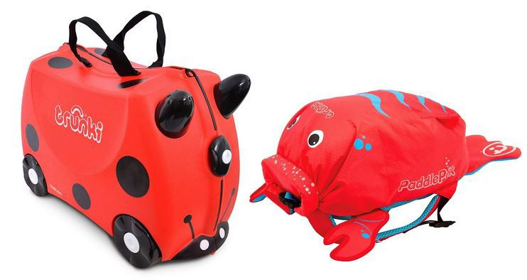 Trunki Ride on Suitcase + PaddlePak Kinderrucksäcke statt 66€ für 34,30€