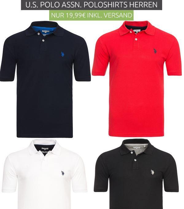 U.S. Polo Poloshirt U.S. POLO ASSN.   Herren Poloshirts für 19,99€