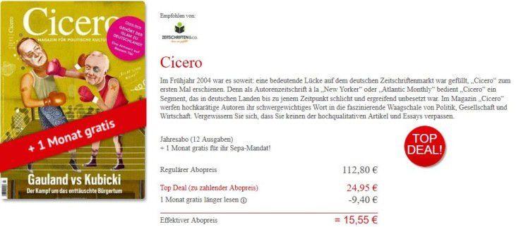 Unbenannt2 e1480774503452 12 Ausgaben Cicero Autorenzeitschrift für 24,95€