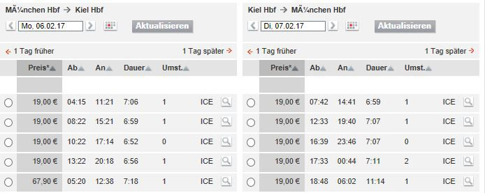Nur noch heute! Deutsche Bahn Tickets ab 19,90€ pro Strecke   auch für Fahrten über 250 km