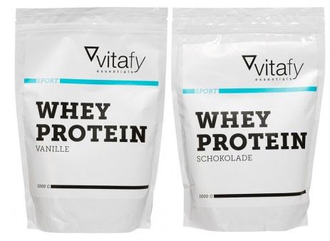2kg Vitafy Essentials Whey Protein + 30er Pack Proteinissimo Choco Coffee + Shaker für 25€