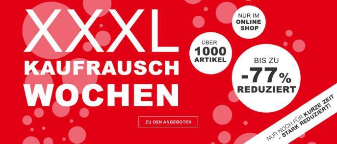 XXXL Shop: 25€ Gutschein mit 100€ MBW