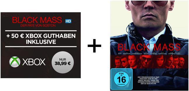 Xbox Guthaben Gutschein Xbox Live 50€ Guthaben + Black Mass als HD Stream für nur 38,95€