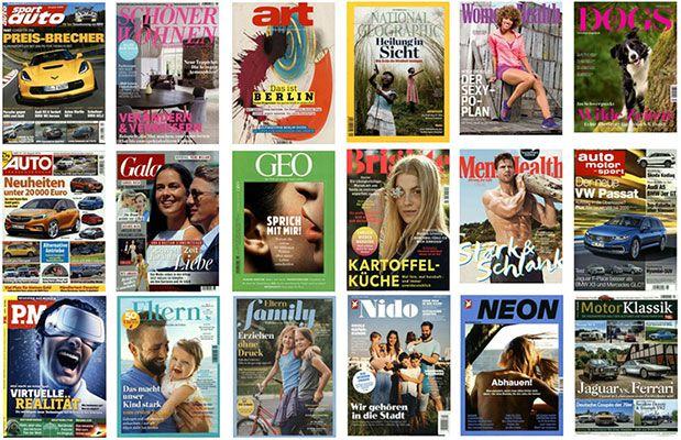 Große Zeitschriften Abo Sommerkampagne   Jahresabos mit bis zu 50€ Gutschein als Prämie